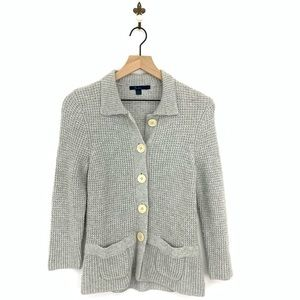 Boden Gray Knit Button Up Cardigan Sweater Size 6